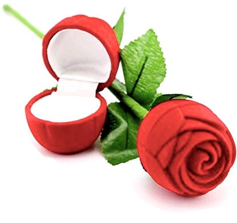 Velvet Red Rose Ring box-Pack of 1