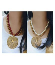 863c96208 Quick View. Bhagya Lakshmi Alloy Multi Color Contemporary Contemporary Fashion  Antique Necklace set Combo