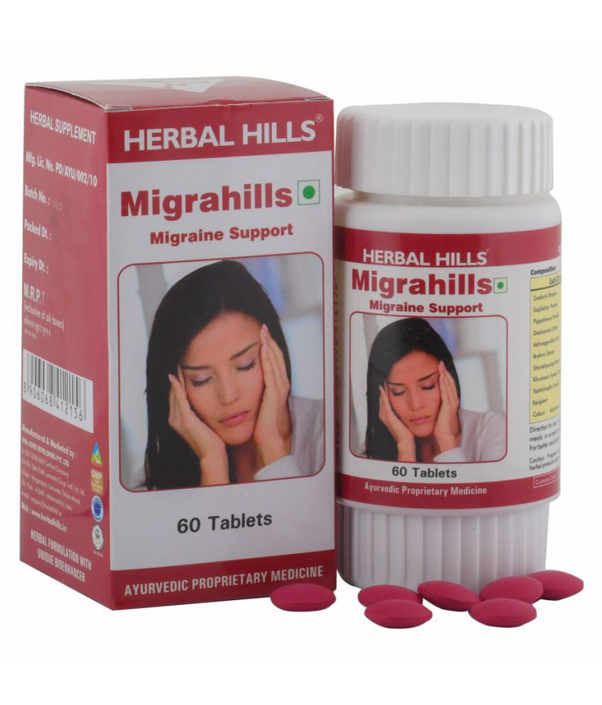 Herbal Hills Migrahills Tablet 60 no.s Pack Of 1