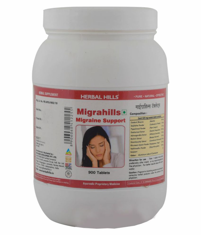 Herbal Hills Migrahills Tablet 900 no.s Pack Of 1