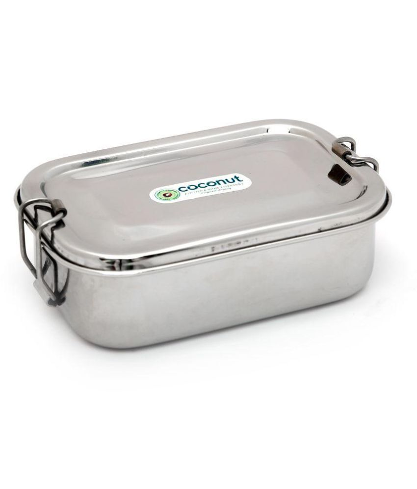 Coconut Silver Stainless Steel Lunch Box