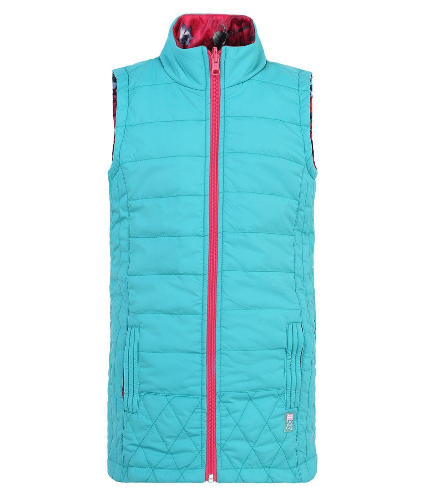 Monte Carlo Blue Solid Polyester Spread Collar Jackets