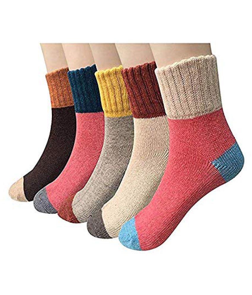 Aeoss 5 Pair Women s Thick Socks fd1ddaa0fd