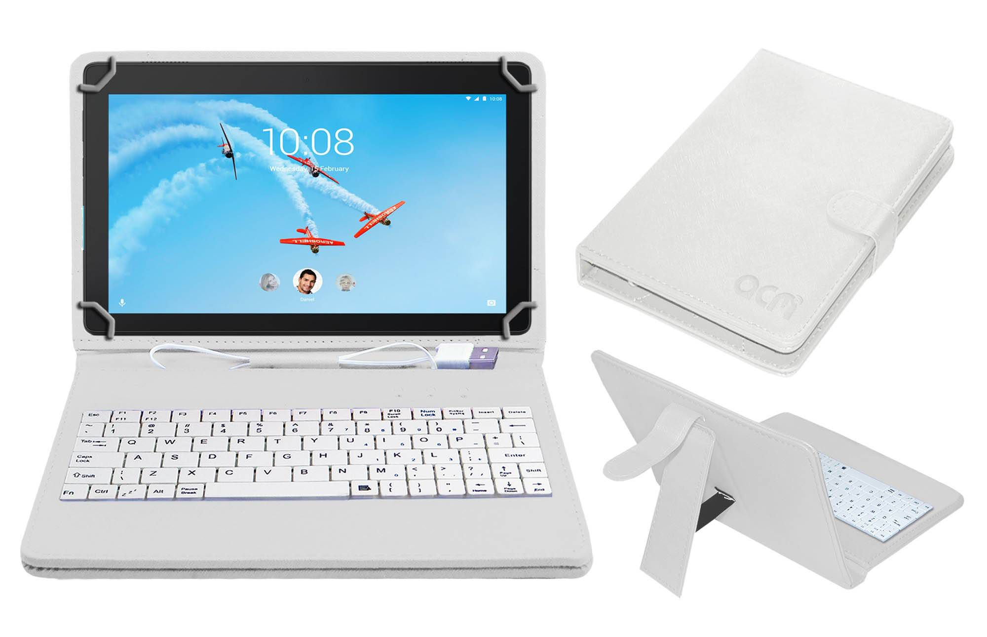 size 40 e1d8d d3539 Lenovo Tab E10 Keyboard Cover By ACM White