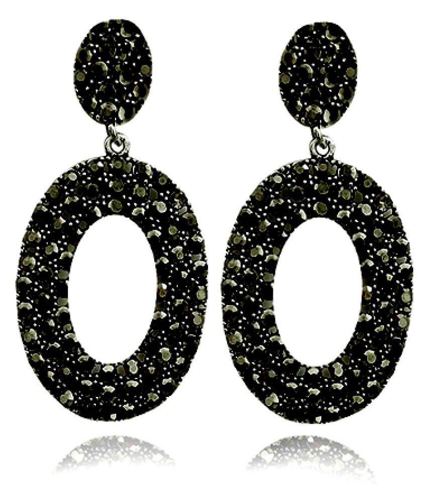 8d43560ec FANCY BLACK STONE EARRING - Buy FANCY BLACK STONE EARRING Online at Best  Prices in India on Snapdeal