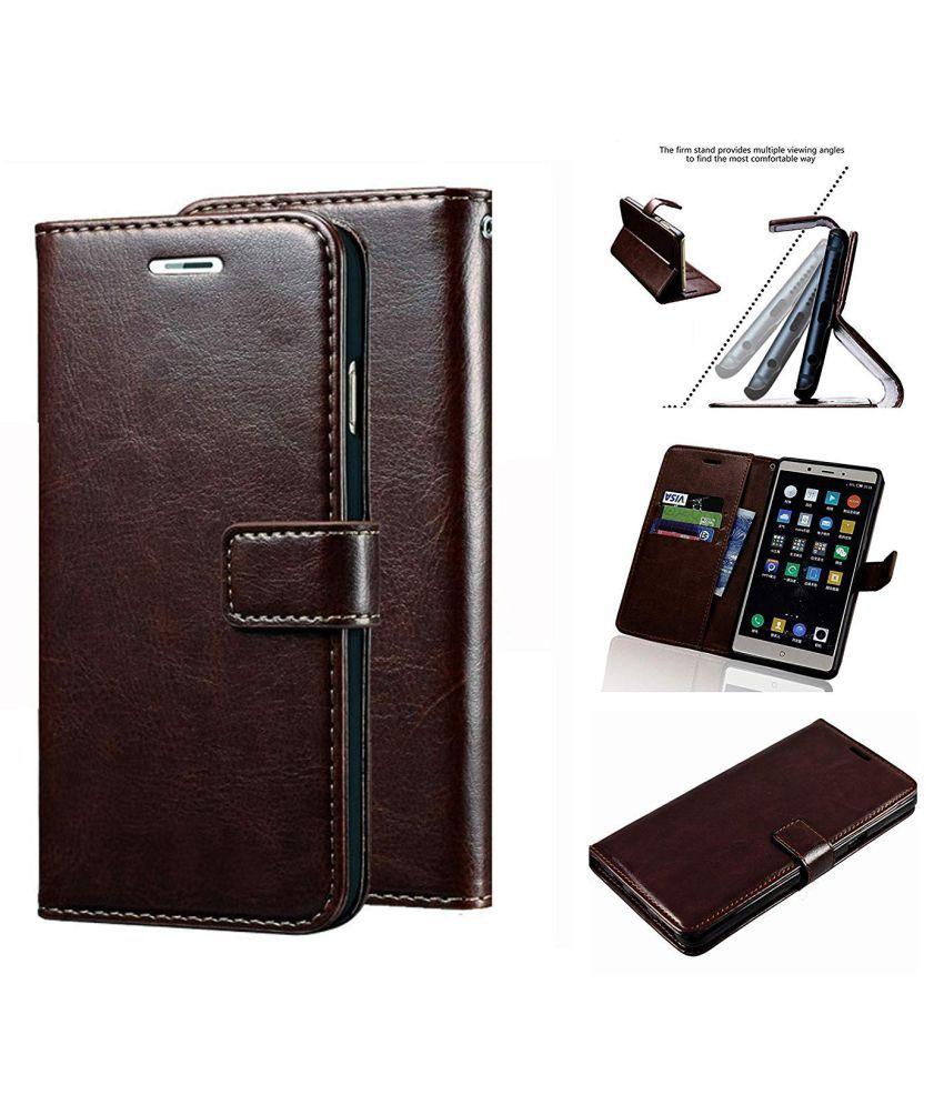 Lenovo K8 Note Flip Cover by Designer Hub   Coffee
