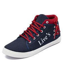 Ethics Sneakers Red Casual Shoes