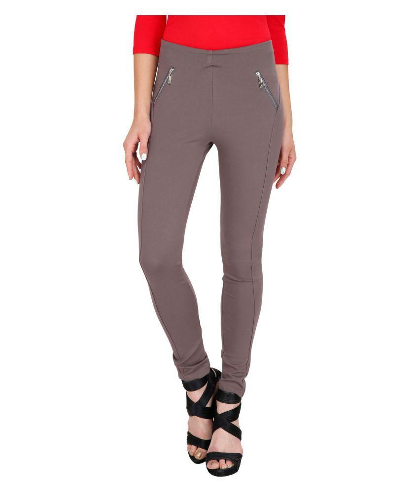 Ritu Designs Cotton Jeggings - Grey