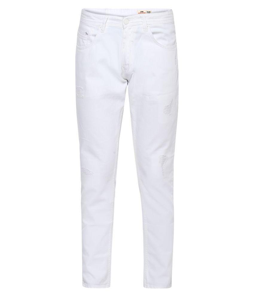 Spykar White Super Skinny Jeans