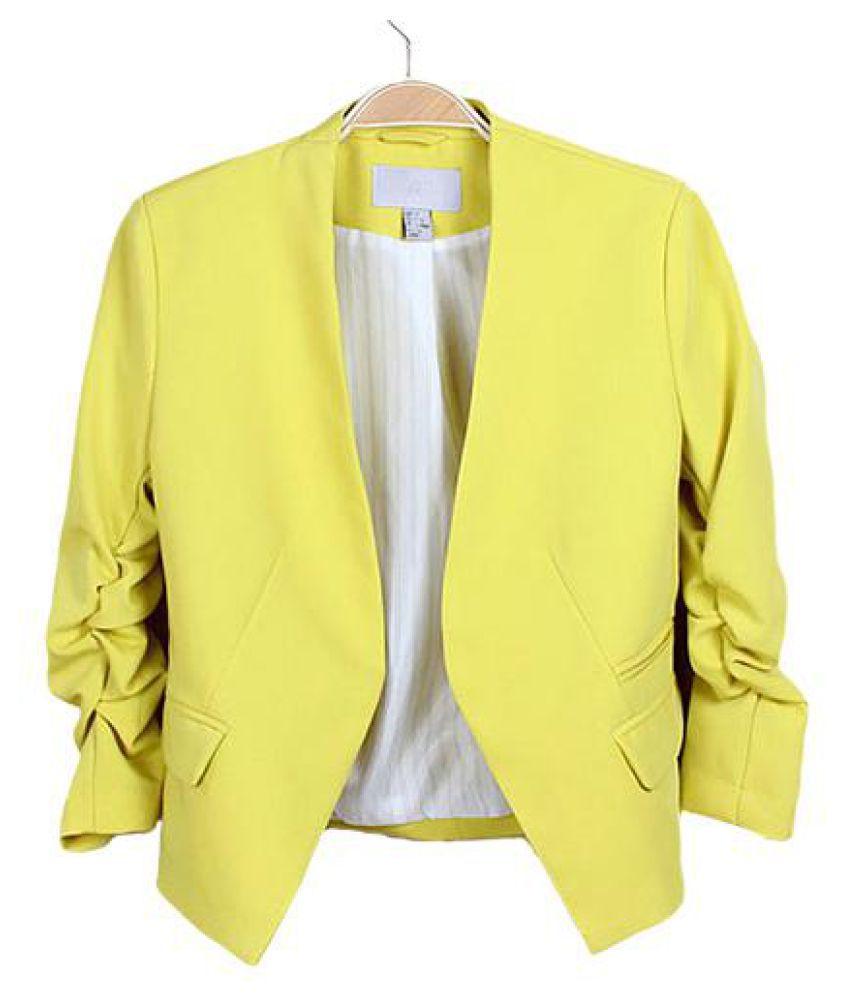 Candy Color Women Fashion Korean Solid Slim Suit Blazer Coat Jacket Fashion