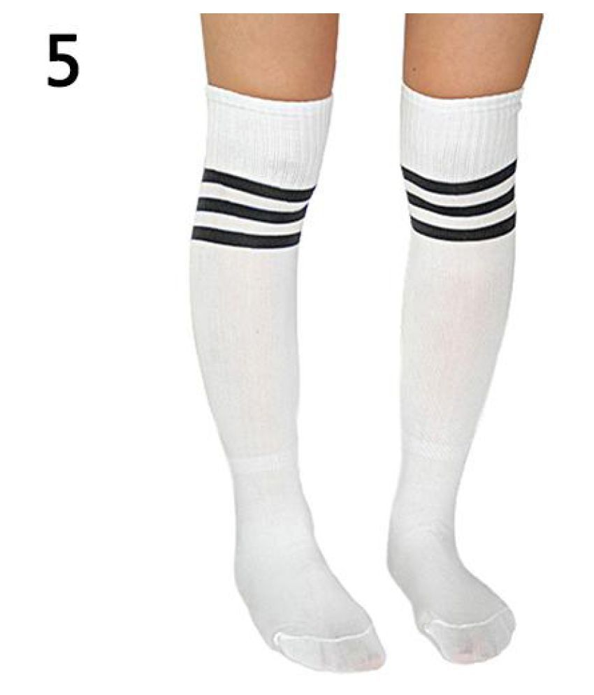 e22eefddf Fashion Men Women Soccer Football Basketball Striped Knee High Sport Tube  Socks  Buy Online at Low Price in India - Snapdeal