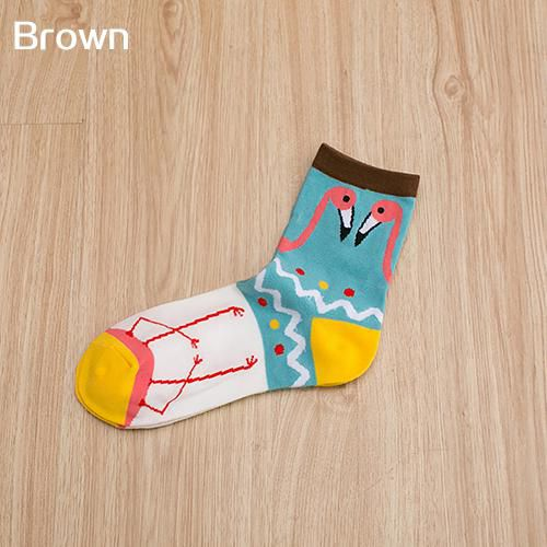 96aca35363d05 1 Pair Men Women Autumn Winter Cute Flamingo Printed Cotton Breathable Socks:  Buy Online at Low Price in India - Snapdeal