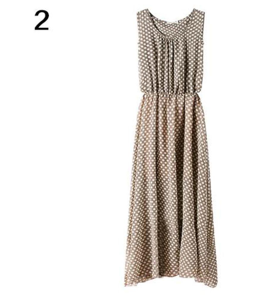 b28e5bd2835f Lady Bohemian Summer Polka Dot Sleeveless Chiffon Beach Long Maxi Dress  Sundress - Buy Lady Bohemian Summer Polka Dot Sleeveless Chiffon Beach Long  Maxi ...