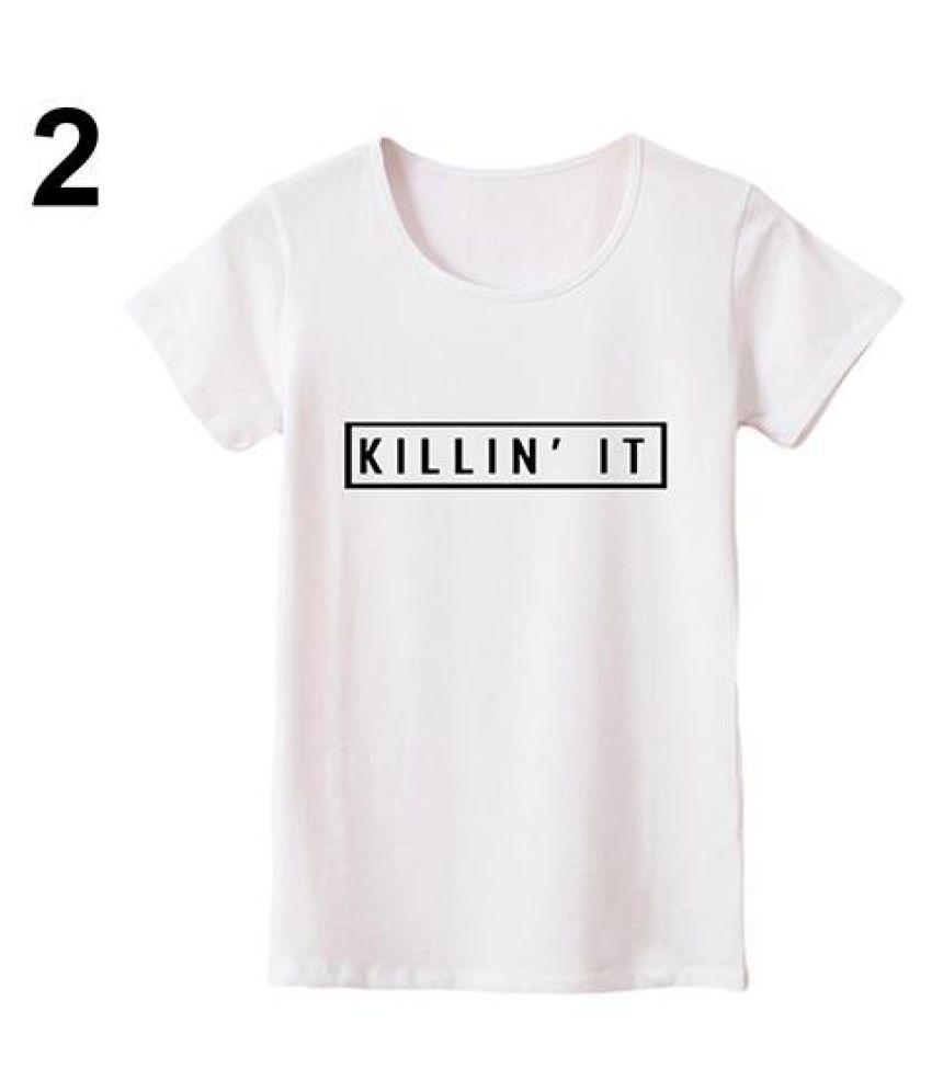 Buy Women Fashion Summer Cool Street Killing It Letter Print Size