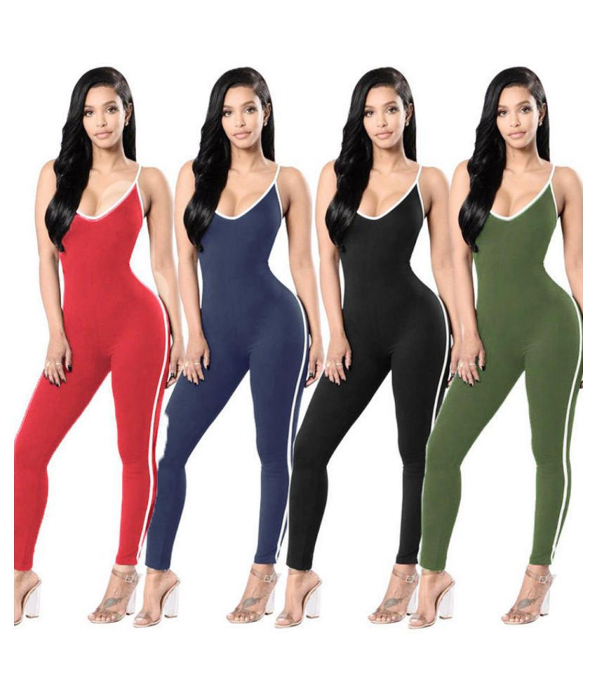 2c3c826997f3 ... Women Sleeveless Bodycon Party Jumpsuit Romper Pants Trousers Clubwear  Playsuit ...