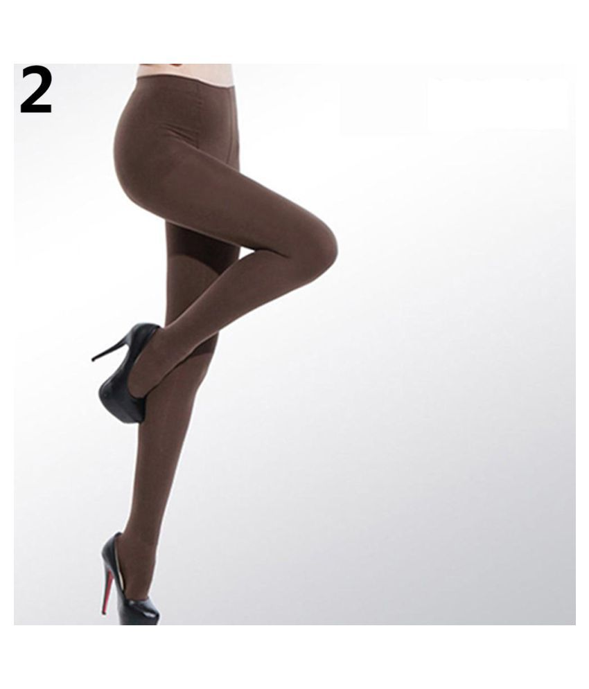 23f3ab301c7 ... Women s Sexy Candy Color Velvet Stockings 120D Seamless Stretch  Pantyhose Tights ...