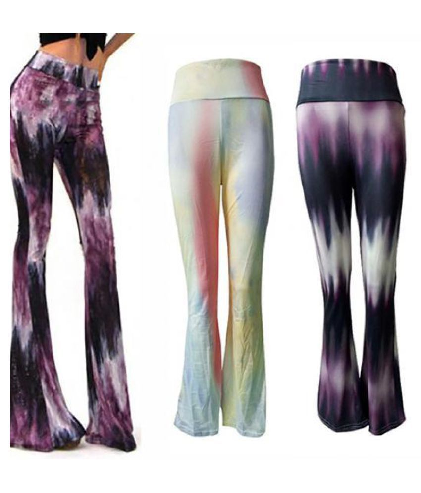 470f312dad808 Buy Women Cocktail Boho Pants Bell Bottom High Waist Stretch Slim ...