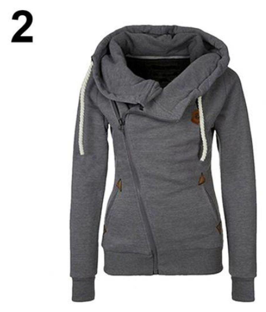 UpdateClassic Womens Side Zip Hoodie Slim Jacket with Zipper Pockets Turtleneck Hoodie Coat