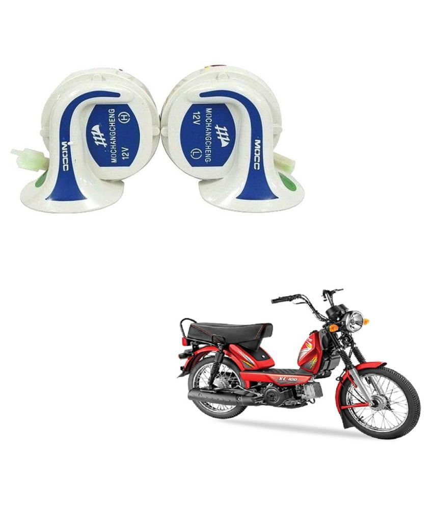 Auto Addict TVS XL 100 Horn Applicable For Two Wheelers Only - Set of 2  (High & Low Tone)
