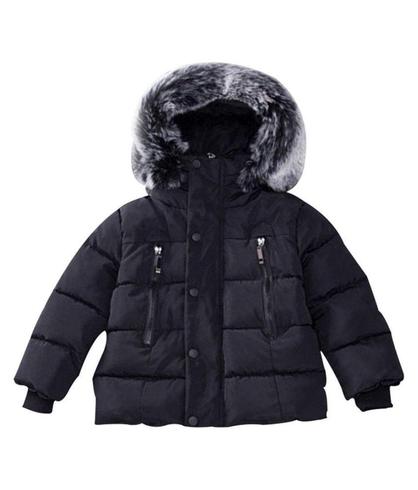 38300b9bf Baby Girls Boys Winter Warm Down Jacket Cotton Hooded Coat Overcoat ...