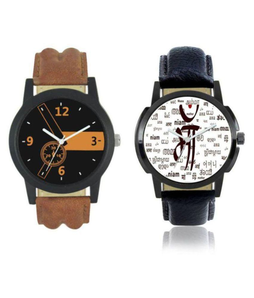 04595b24b3be dkenterprise new stylish brown1 and maa analog combo watch - Buy  dkenterprise new stylish brown1 and maa analog combo watch Online at Best  Prices in India ...