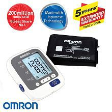 Omron HEM 7130L Fully Automatic Digital Blood Pressure Monitor With Large Cuff, Intellisense Technology & Cuff Wrapping Guide For Most Accurate Measurement (5 years Extended Warranty)