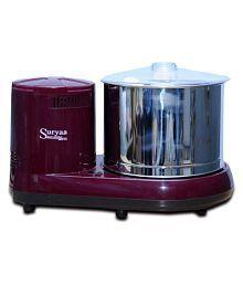 Suryaa Smart Kitchen Maroon 2 Ltr Table Top Wet Grinder