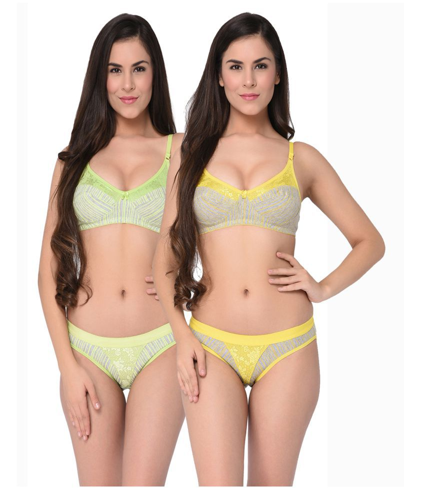 d61a4e6b55 Buy Elina Cotton Bra and Panty Set Online at Best Prices in India - Snapdeal