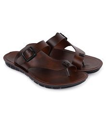 b2a7f0c3516d Quick View. PU-SPM Brown Synthetic Leather Sandals