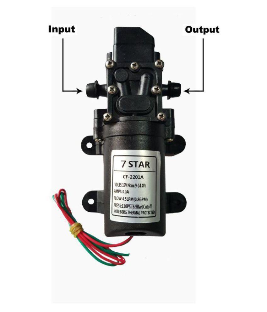 7-STAR 4 5 LPM / 12v DC /110 PSI Battery Sprayer Motor Pump Diaphragm Water  Pump
