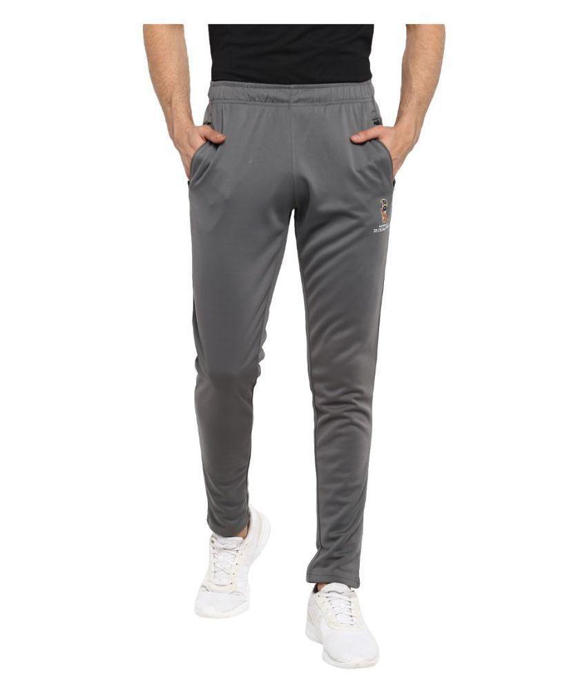 FIFA Men Solid Grey Trackpant