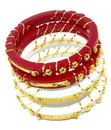 Jewelry & Watches Bridal & Wedding Party Jewelry 2.4 S Bollywood Bangles Bracelet Indian Punjabi Bridal Jewellery Chura Red D8 Year-End Bargain Sale
