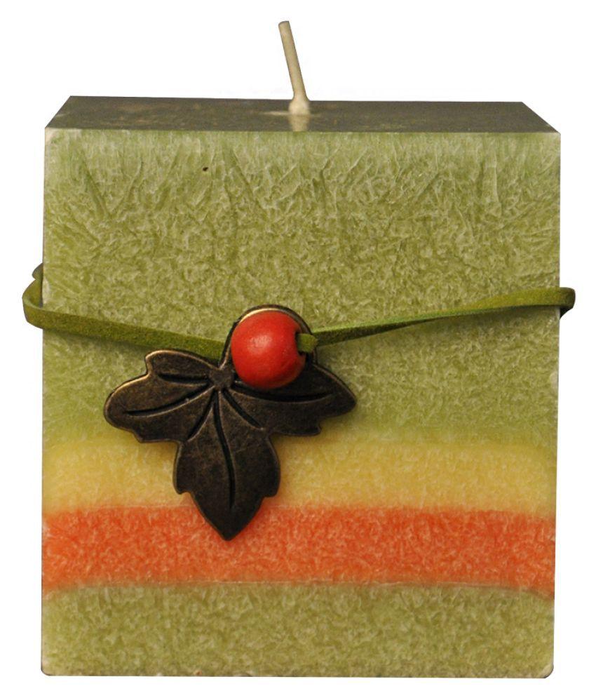 EZ Life Green Pillar Candle - Pack of 1