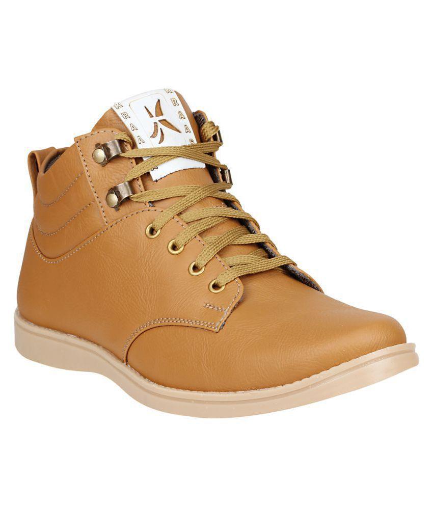 Kraasa Beige Casual Boot