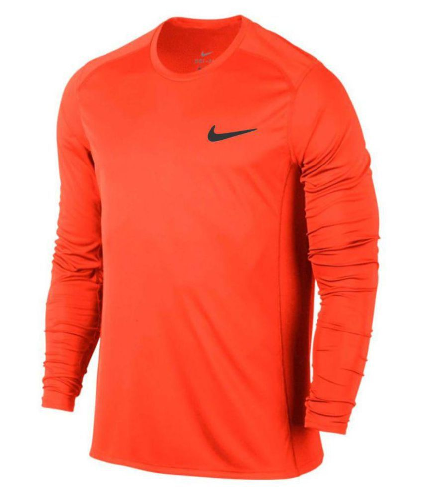916c30903 NIKE DRY FIT Orange Cotton Blend T-Shirt - Buy NIKE DRY FIT Orange Cotton  Blend T-Shirt Online at Low Price in India - Snapdeal