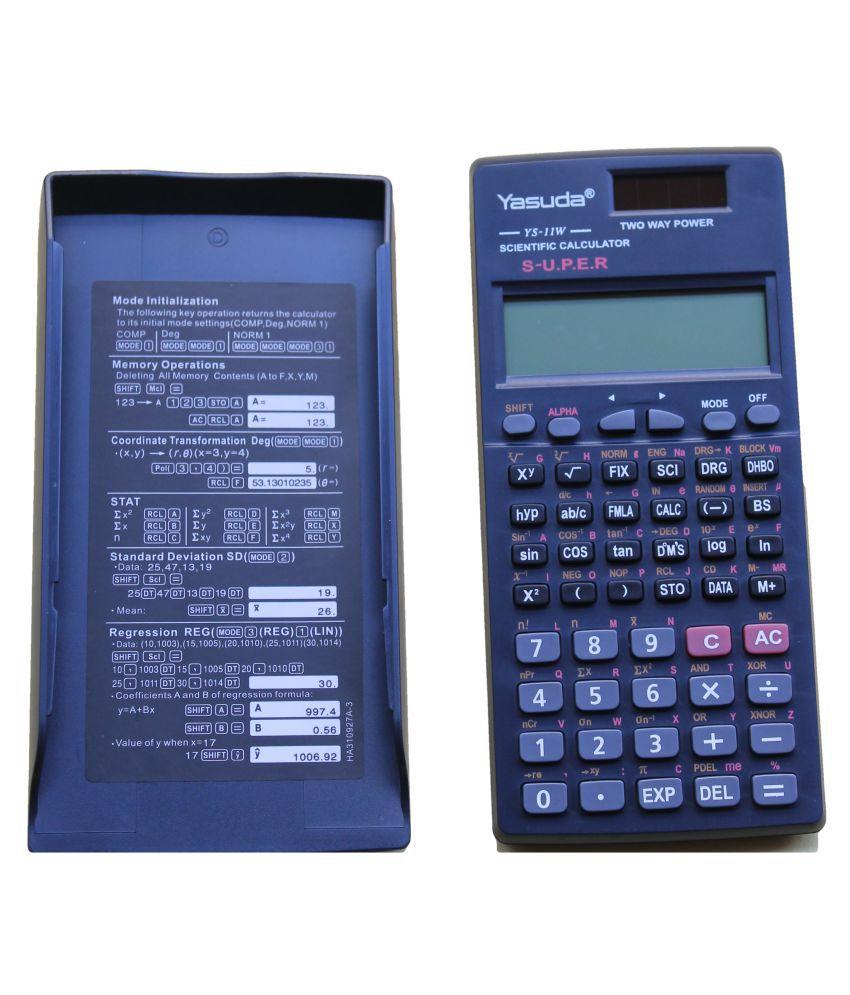 Yasuda Scientific Calculator TYS-11WS Grey Colour