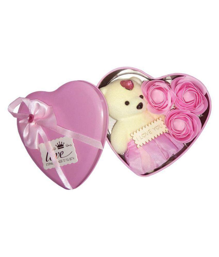 EASTERN CLUB Fabric Valentine Hamper Pink - Pack of 1