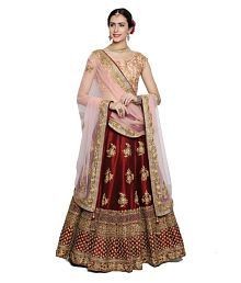9f56a348d Quick View. Martex Red Satin Unstitched Semi Stitched Lehenga