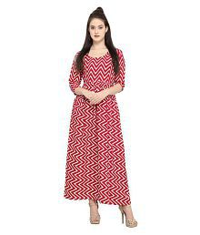 The Bebo Crepe Red A- line Dress