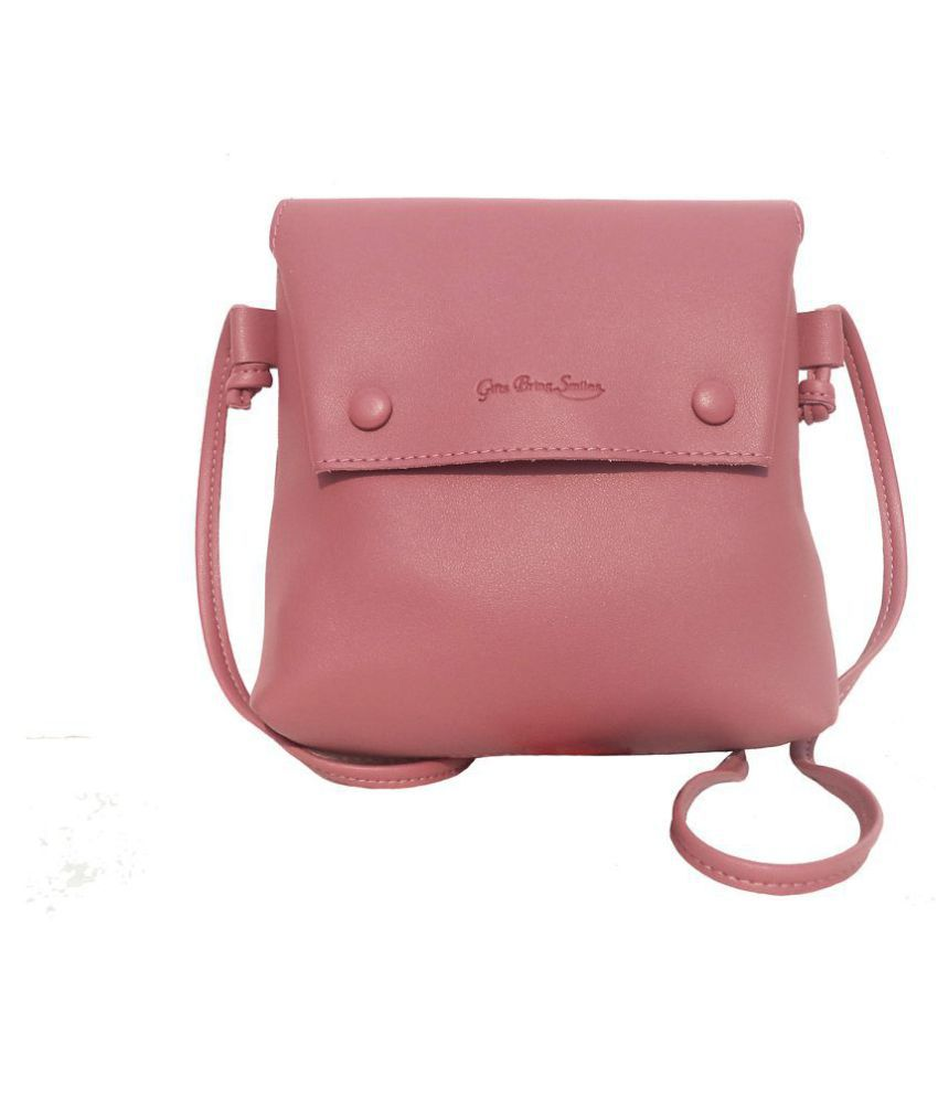 Gifts Bring Smiles Peach P.U. Sling Bag