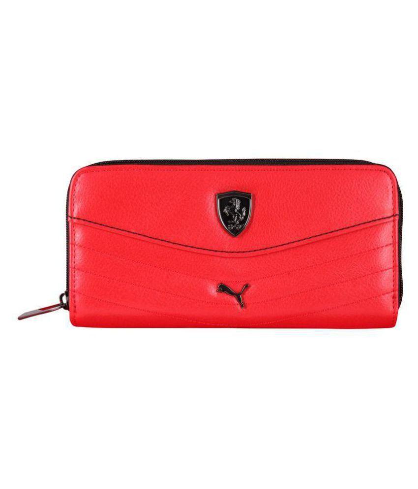 Puma F1 Red Faux Leather Box Clutch