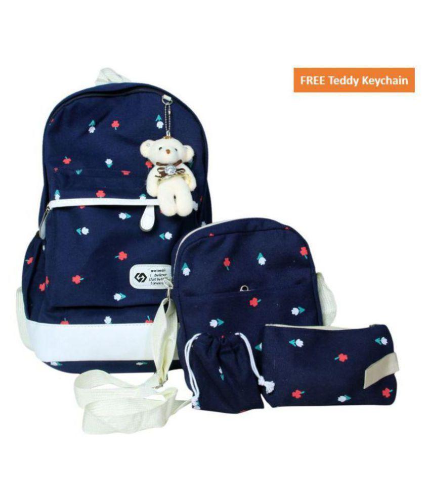 Purple Crane School Bag 4 pieces Combo