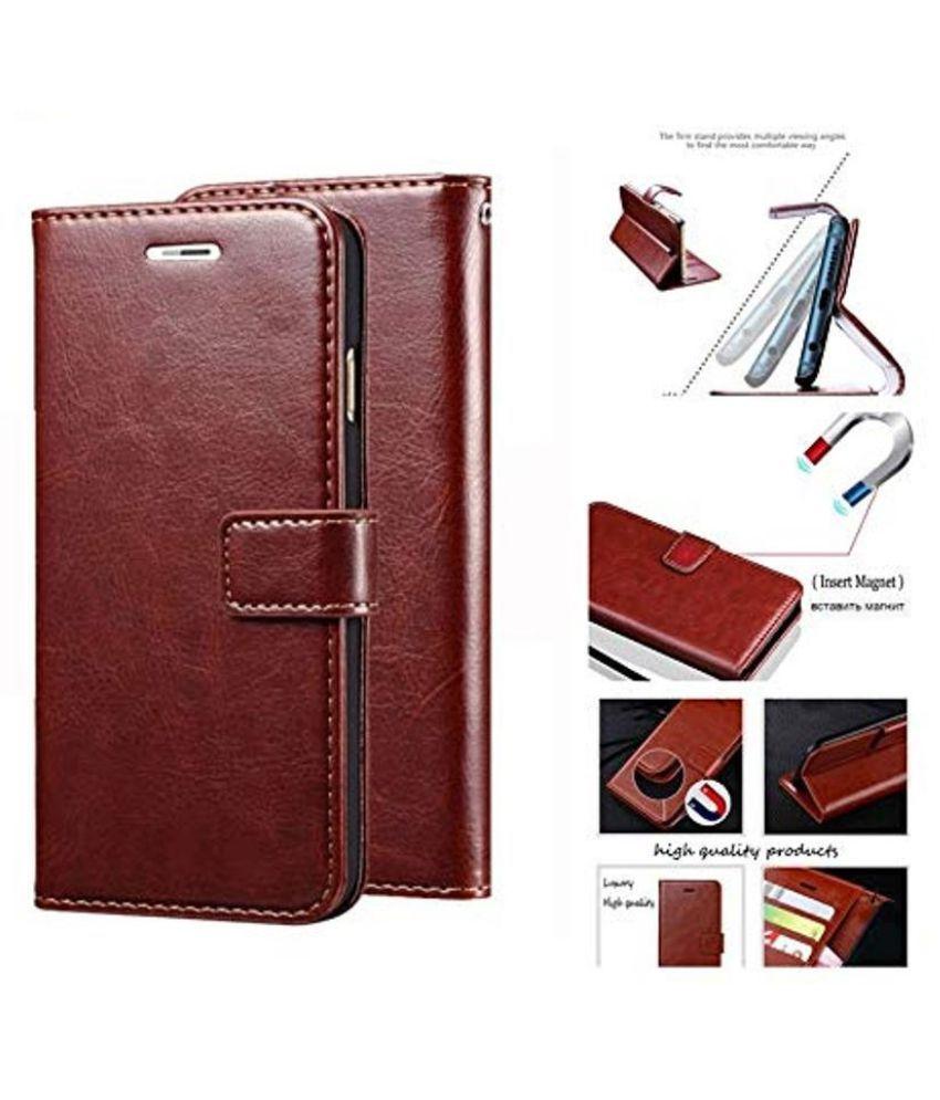 best service b0dd8 102b6 Samsung Galaxy Note 9 Flip Cover by NKARTA - Brown