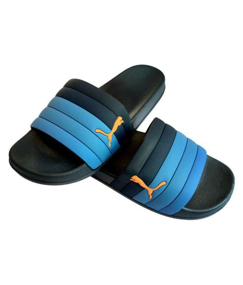 f0f46874220f Puma Blue Slide Flip flop Price in India- Buy Puma Blue Slide Flip flop  Online at Snapdeal