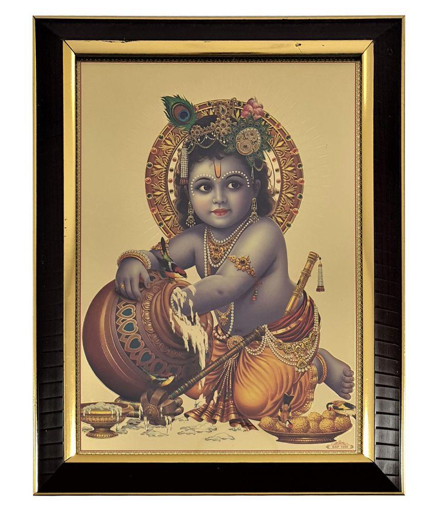 Gallery99 Bal Krishna Golden Plated Digitally Reprinted : 10