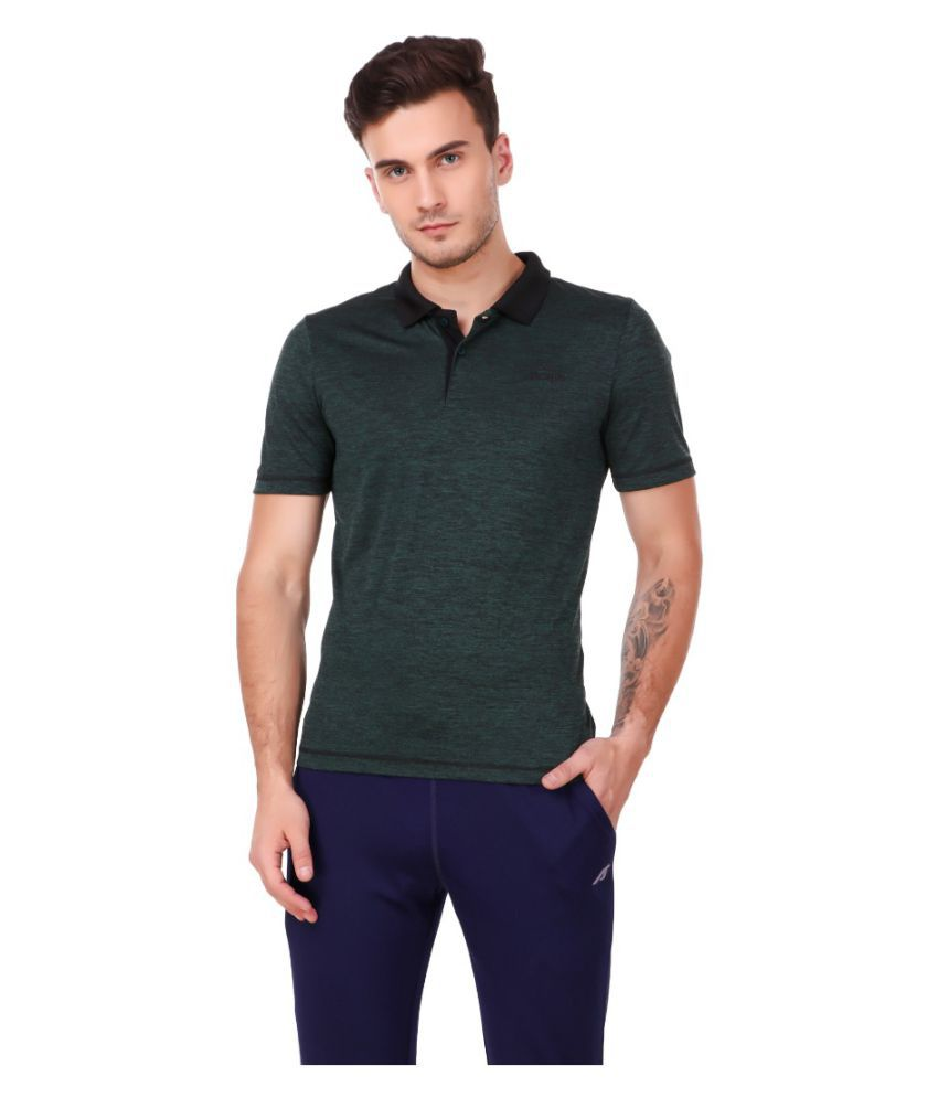 Alcis Green Half Sleeve T-Shirt Pack of 1