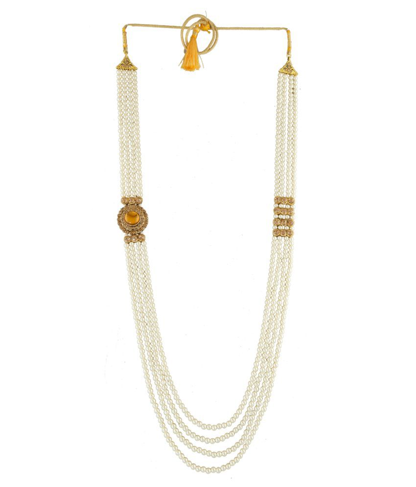 Anuradha Art Jewellery Alloy Golden Other Traditional None Necklace