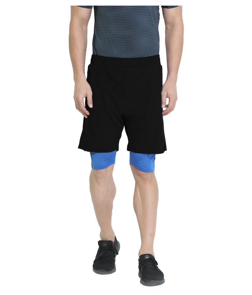 CHKOKKO Double Layered Sports Gym Workout Running Shorts for Men