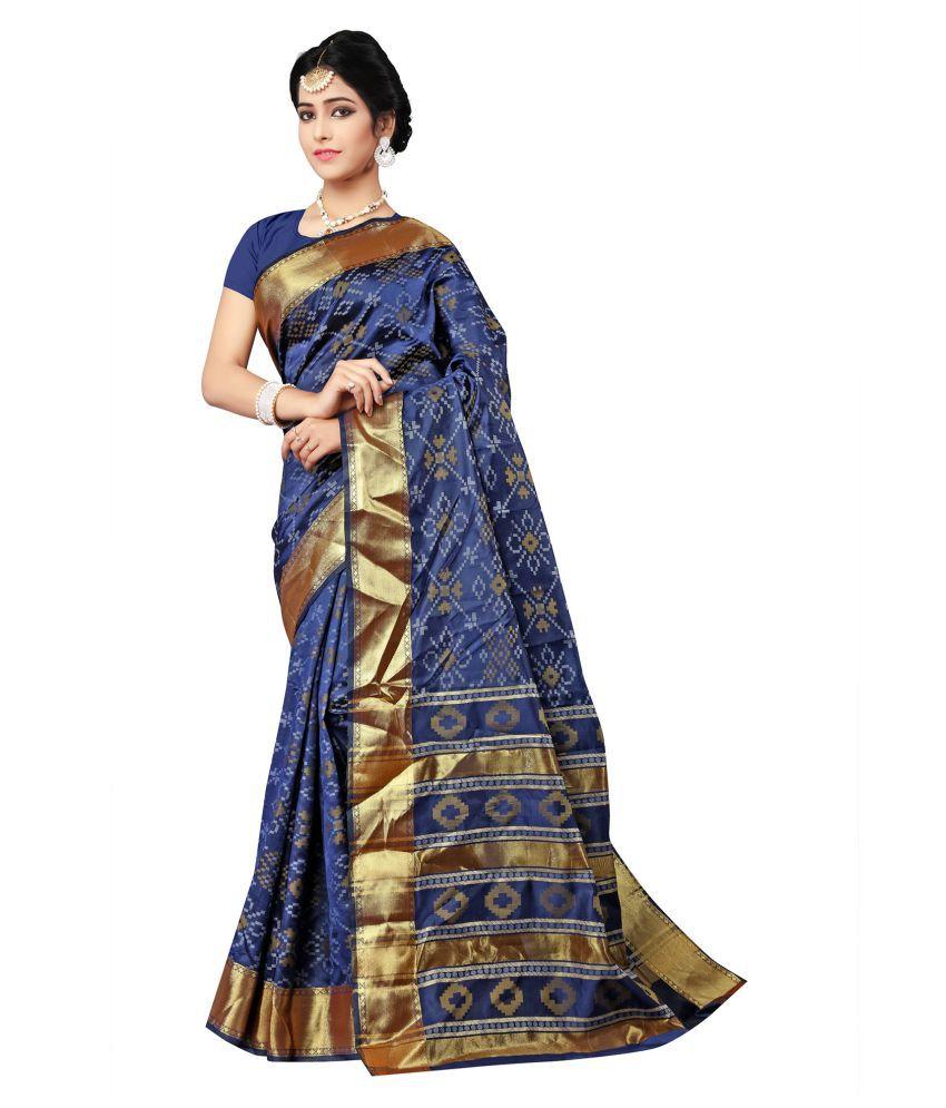 NITYAA Blue Banarasi Silk Saree