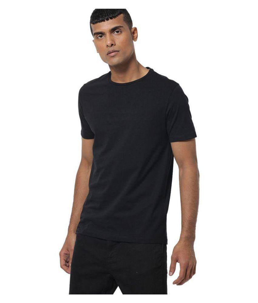 aarmy fit Black Half Sleeve T-Shirt Pack of 1